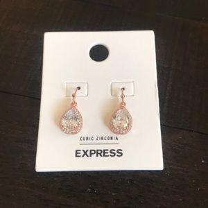 Cubic zirconia earrings from Express